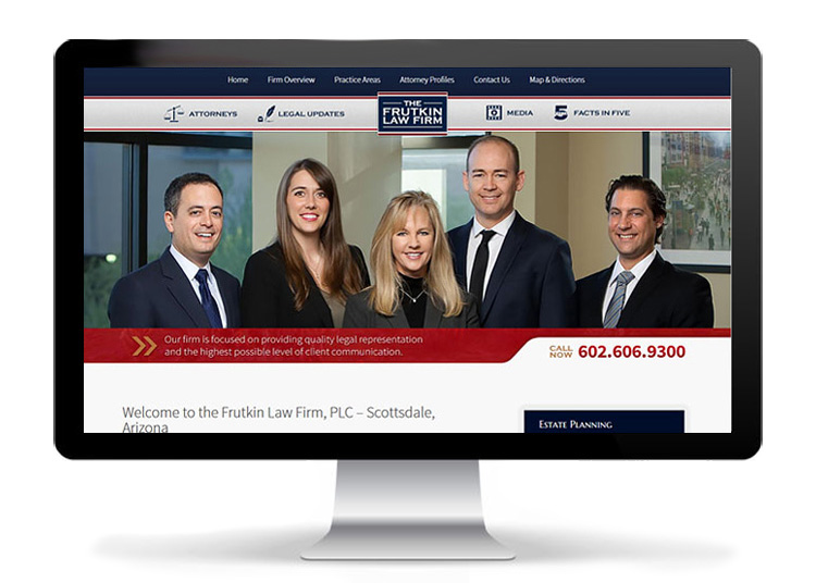 Custom Web Design - Frutkin Law, PLC
