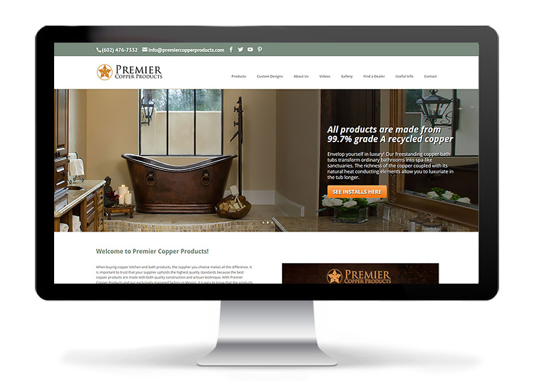 Custom Web Design - Premier Copper Products