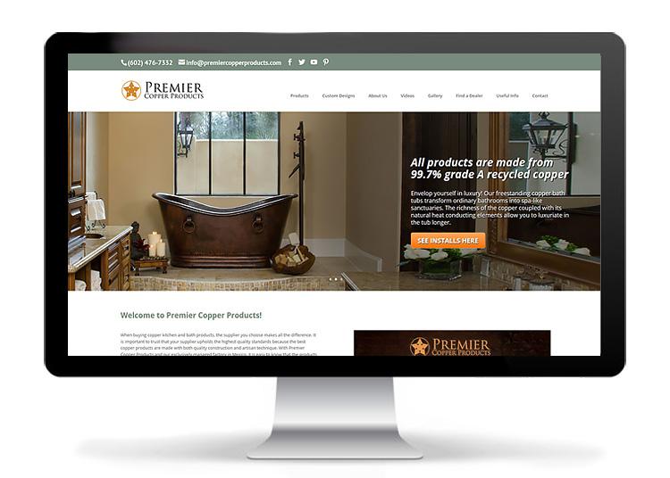 Custom Web Design - Premier Copper Products